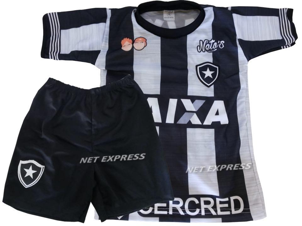 conjunto infantil do botafogo uniforme futebol camisa+shorts. Carregando  zoom. c15e2eeddde86