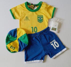0213d74cfa Conjunto Infantil Seleção Brasileira- Copa Do Mundo