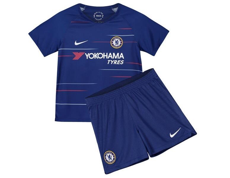 Conjunto Infantil Do Chelsea 2019 Personalizado - R  74 10d8652aa608b