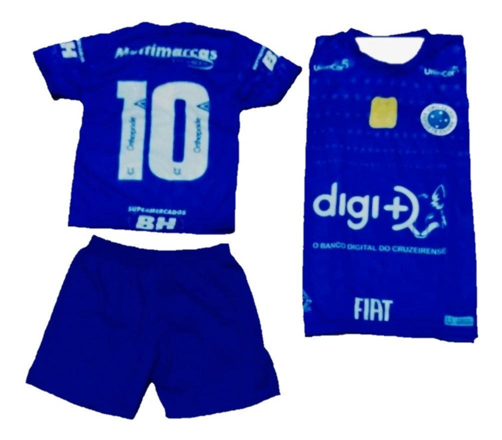 Conjunto Infantil Do Cruzeiro Camisa E Shortinho Azul