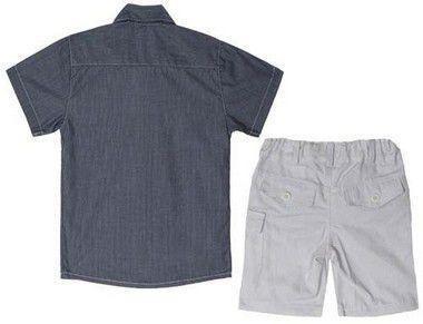 conjunto infantil katitus camisa bermuda