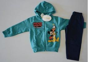 003b14a808 Conjunto Infantil Longo Mickey Jaqueta Capuz Moletom Disney