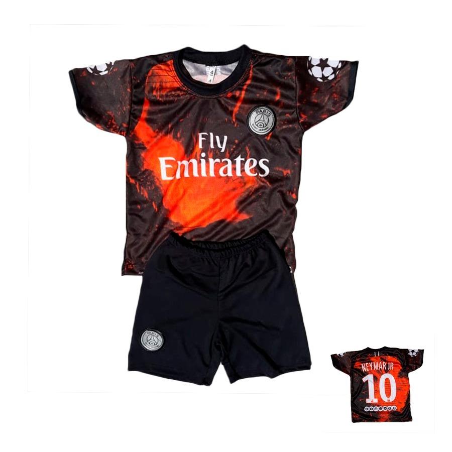 6b4c3636d8a95 conjunto infantil mbappé 2019 futebol camisa ou neymar. Carregando zoom.
