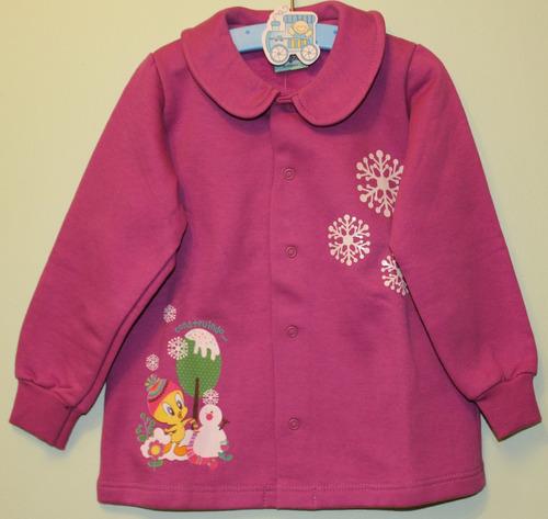 conjunto infantil menina tam.2 casaco pink - moleton malwee
