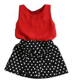 2fc472c04bd9b0 Conjunto Infantil Menina Verão Moda Saia E Blusa Social