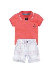 Conjunto Infantil Menino Camiseta Polo E Bermuda Milon - R  139 73c45a13354
