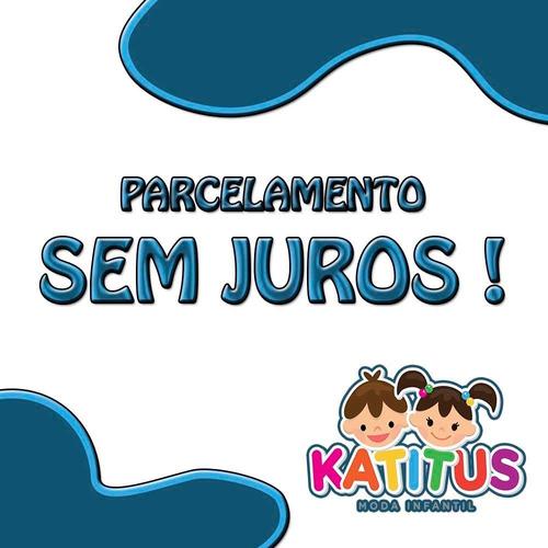 conjunto infantil menino tam: 1 ao 4 verm/bege katitus 1381
