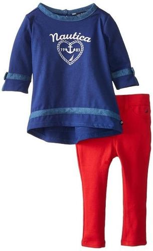 conjunto infantil nautica blusa e calça 12 meses