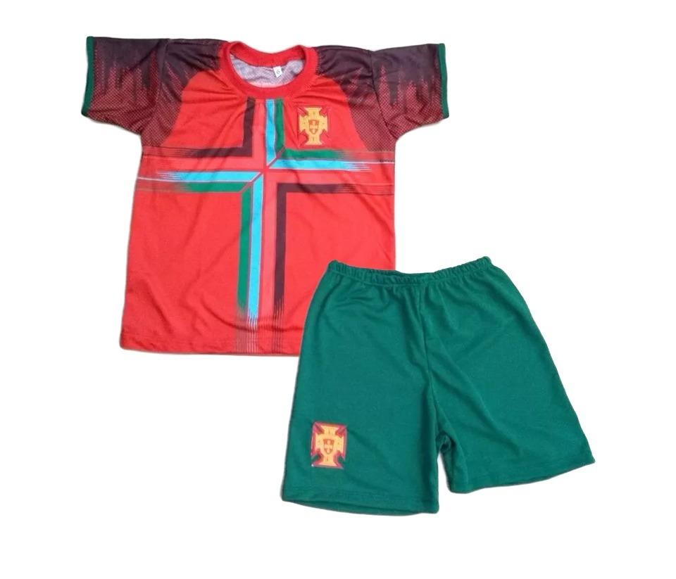 conjunto infantil portugal cristiano ronaldo seleção copa. Carregando zoom. 123ce2af3a9f9
