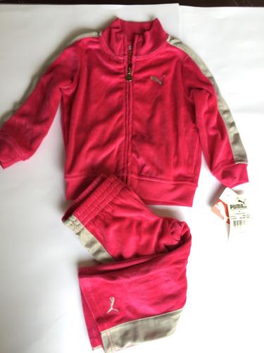 conjunto infantil puma 2 p jaqueta/calça plush 4 e 6 anos