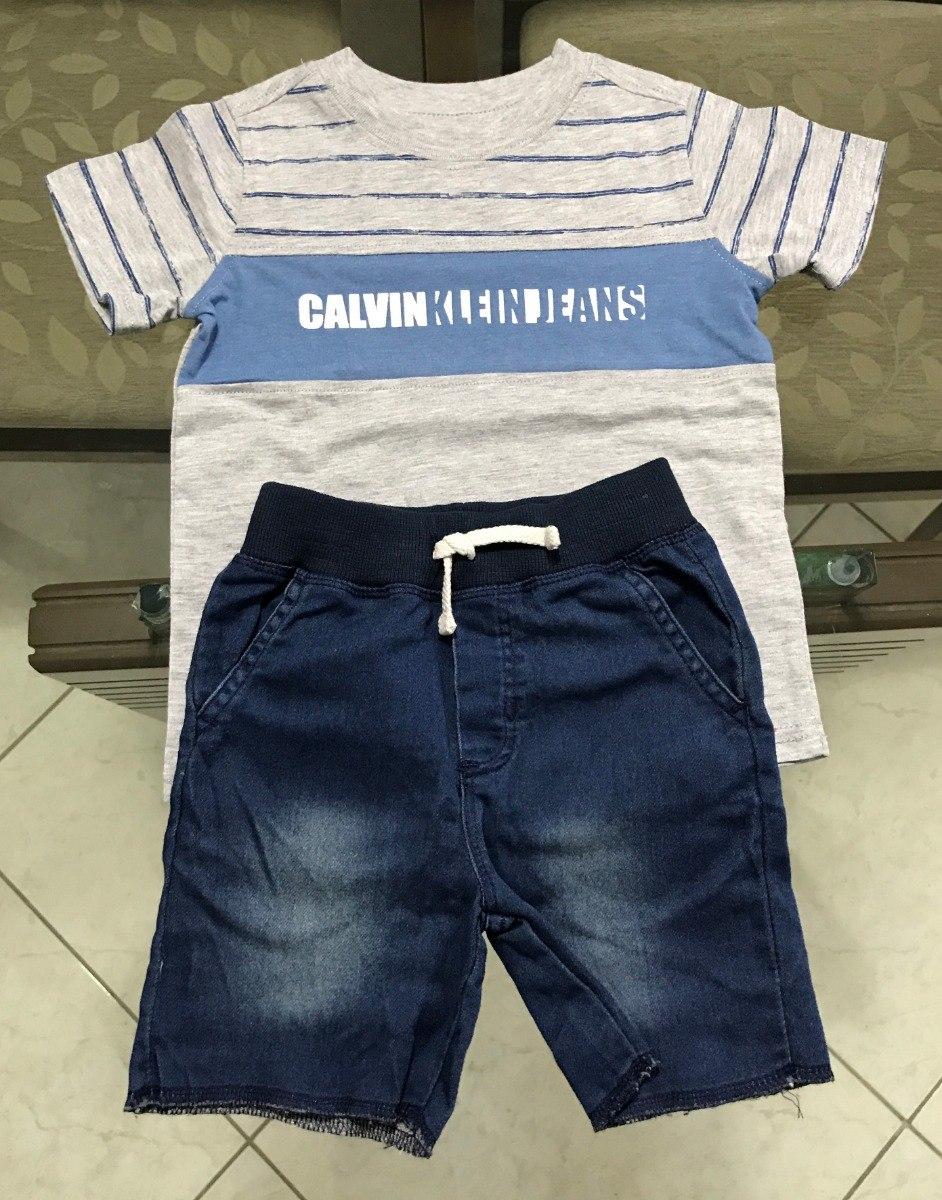 b6b1518e80bf1 Conjunto Infantil Short Camisa Calvin Klein Original - R  160,00 em ...