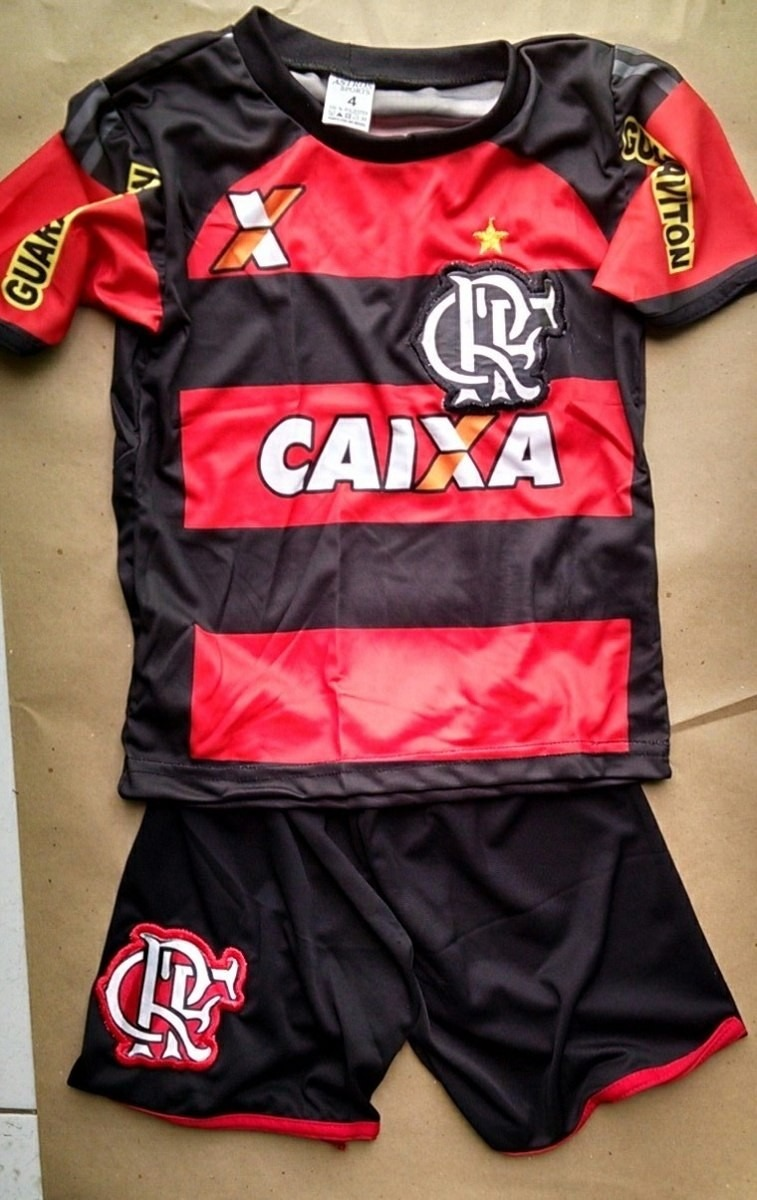 Conjunto Infantil Time Flamengo Do Camisa Camiseta 9 Jeep - R  26 020b5e3ee621a