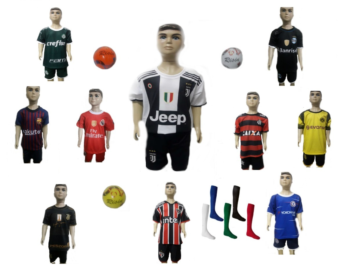 ec0c44634d81f conjunto infantil times de futebol nacional europeu brasil. Carregando zoom.