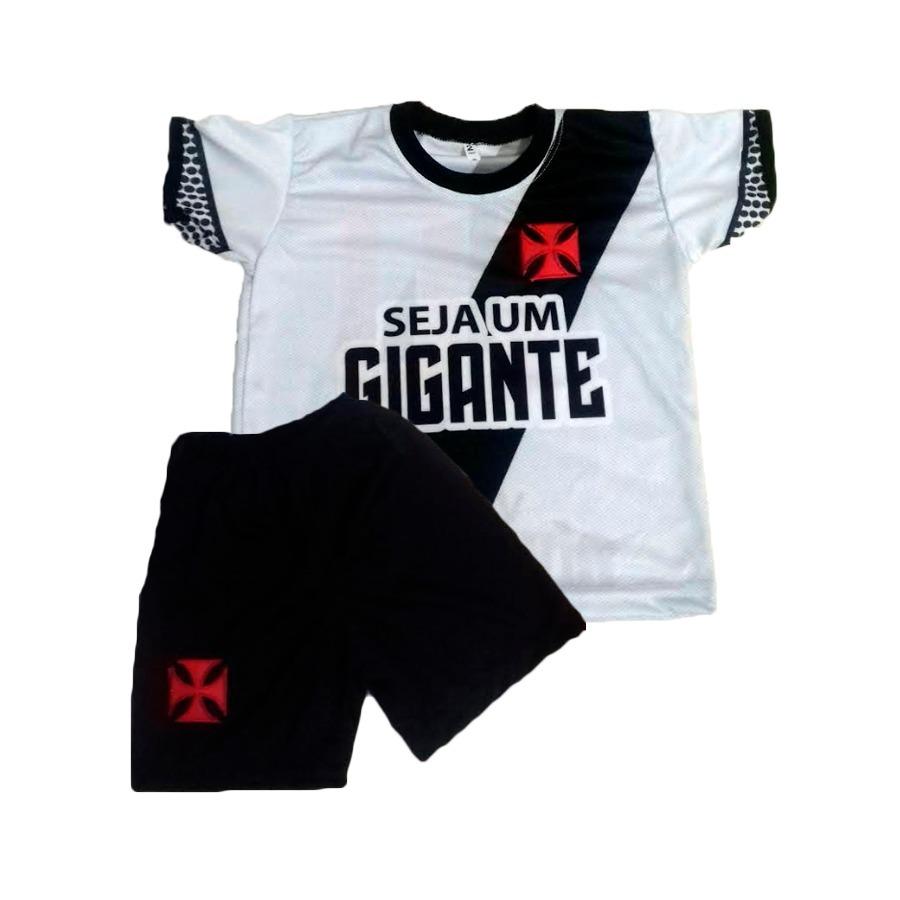 6405fd3112605 Conjunto Infantil Vasco Da Gama - Camisa + Short 2019 - R  40