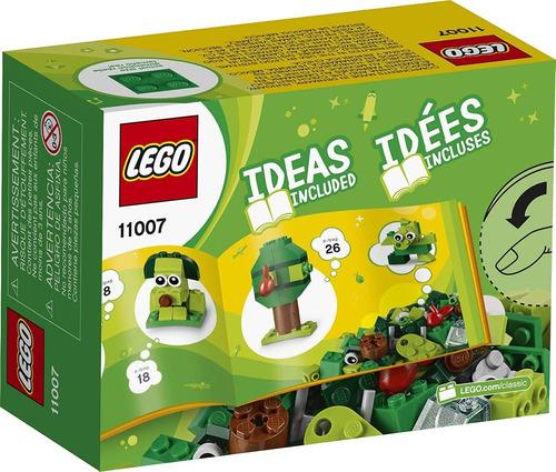 conjunto inicial lego classic - peças verdes criativas