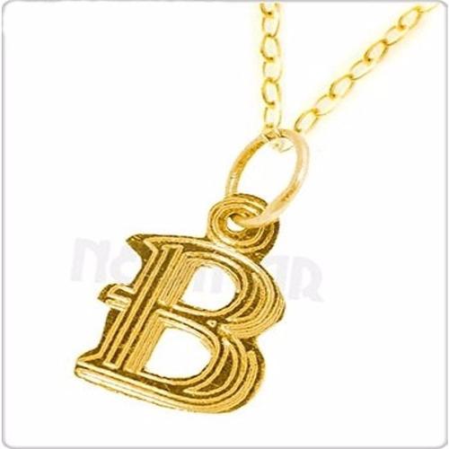 conjunto inicial y cadena de oro amarillo 18 kts - newmar