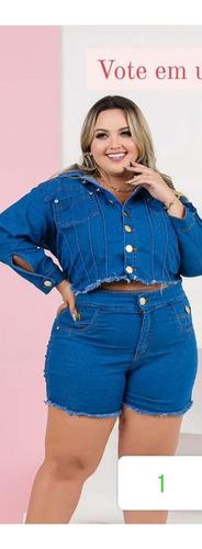 conjunto jaqueta + short jeans