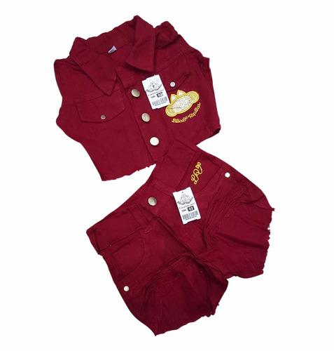conjunto jeans bermuda infantil crianças lilica verao top
