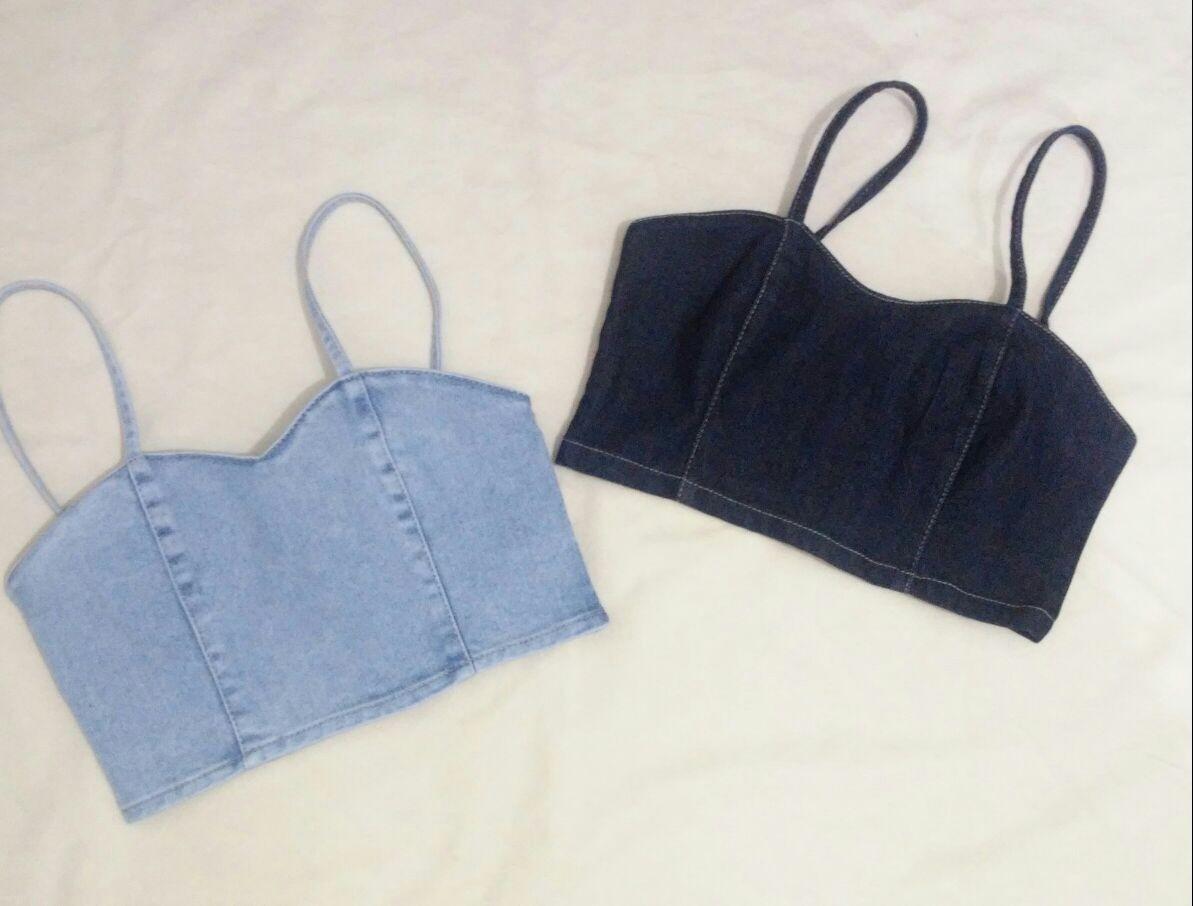 2605d2bd95d293 conjunto jeans - cropped e calça cintura alta. Carregando zoom.