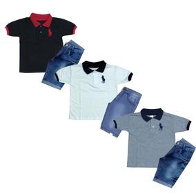 39ea5f392a9 Camisas Camisetas Bermudas Lacoste - Conjuntos Infantis no Mercado ...