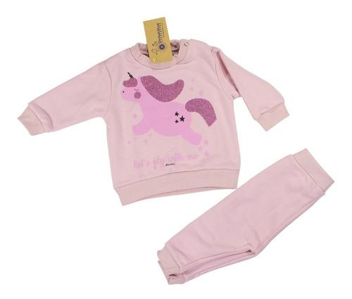 conjunto jogging beba unicornio friza. regalosdemama