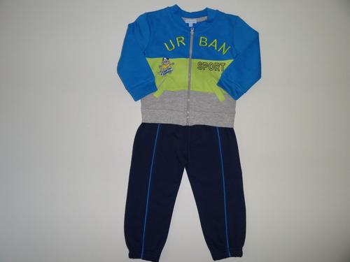 conjunto jogging buzo + pantalón para bebé varón importado