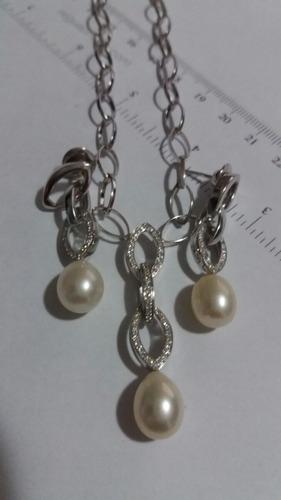 conjunto jóias em ouro branco com brilhantes vivara 18k 750