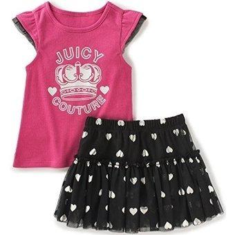 conjunto juicy couture - conjunto 2 piezas falda con bobos t