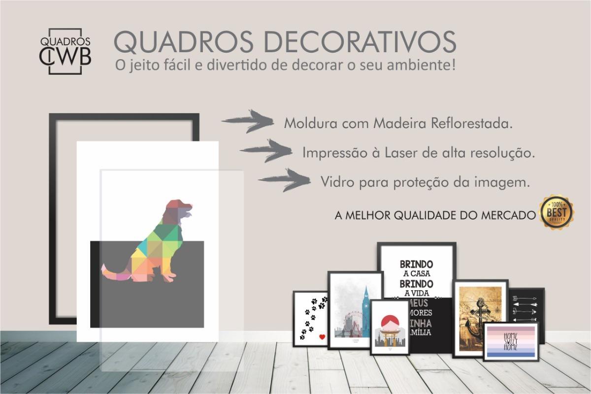 Conjunto Kit De Quadros Amor Frase Fe Abstrato Moldura A4 R 149