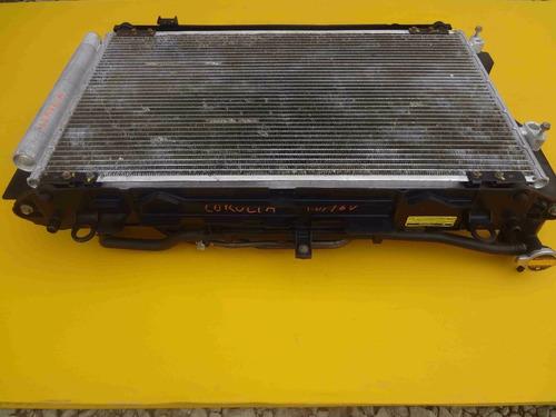 conjunto kit radiadores ventoinha corolla 1.8/16v 2009/2010