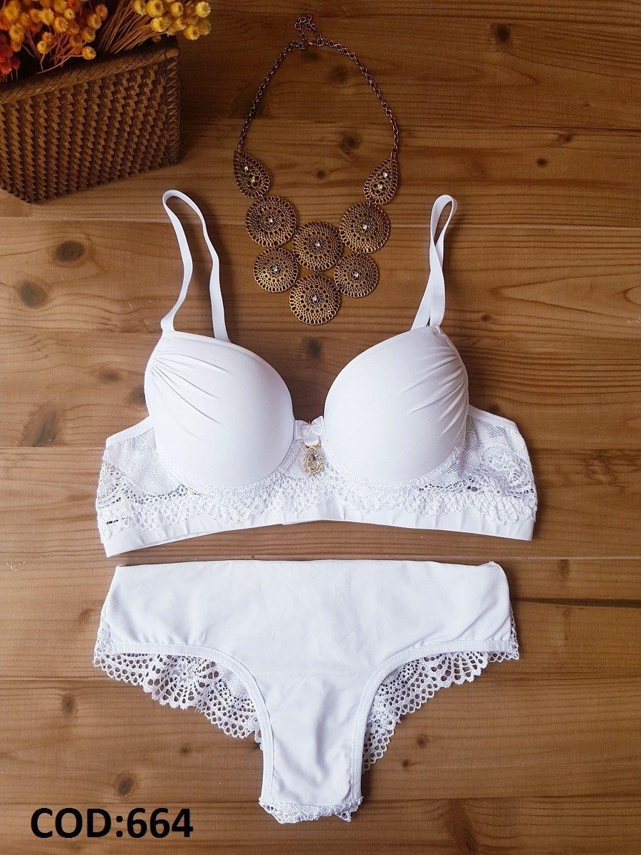 02be46570 conjunto lingerie branco. Carregando zoom.