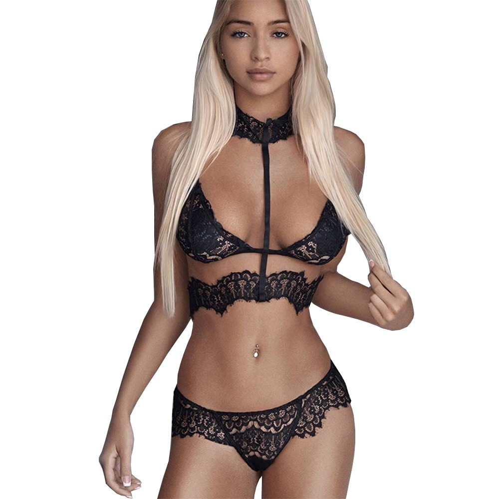 c4f12c968 conjunto lingerie coleira gargantilha renda sexy sensual. Carregando zoom.