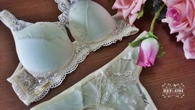 df29c69b6 Conjunto Pink Com Renda Marfim (m) - Moda Íntima e Lingerie no ...