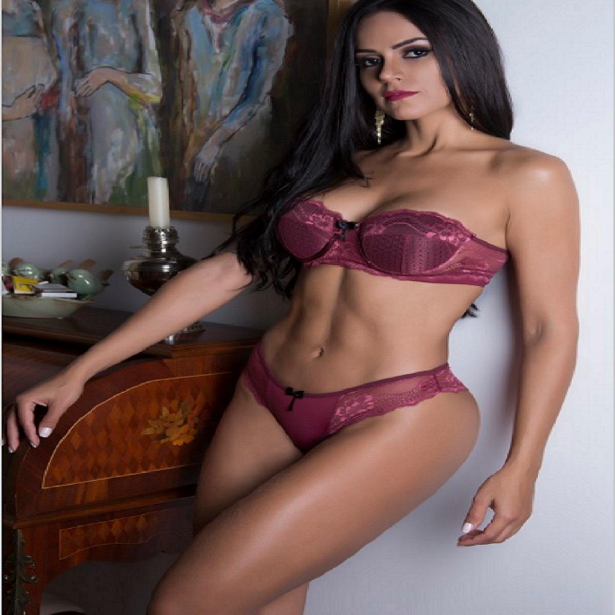 conjunto lingerie em renda bojo tomara que caia sensuale. Carregando zoom. 55f7b789143
