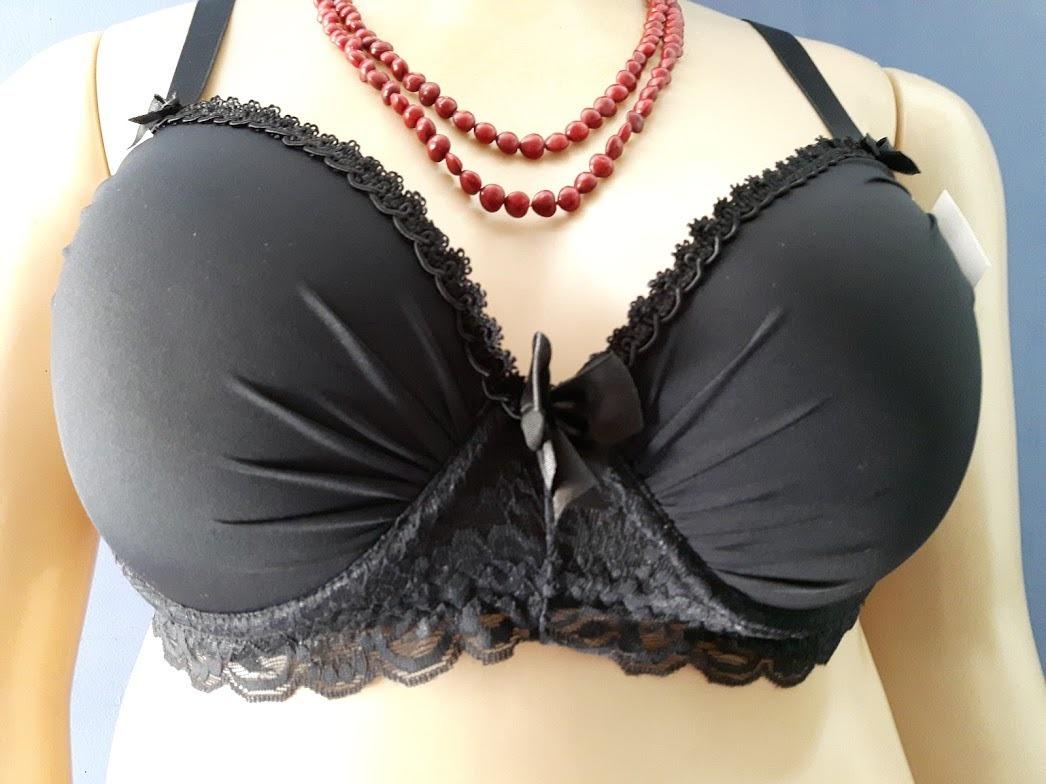 616bc88fc conjunto lingerie plus size tamanho 54 preta em renda. Carregando zoom.