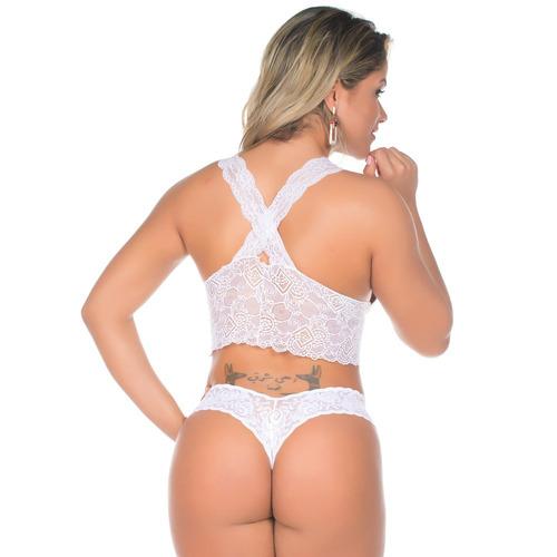 150336ae9 Conjunto Lingerie Renda Sensual Pimenta Sexy Mega Liquidação - R  69 ...