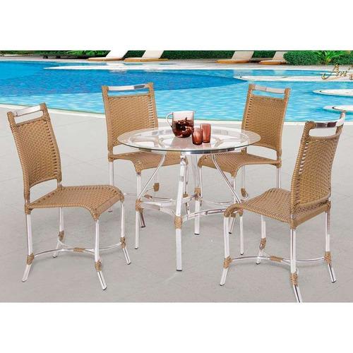 conjunto lívia com 04 cadeiras e 01 mesa