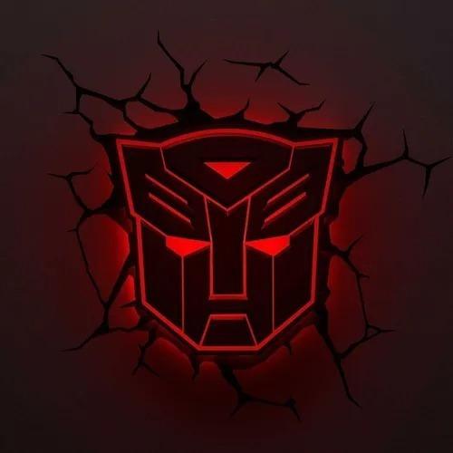 conjunto luminária transformers - autobots/decepticons