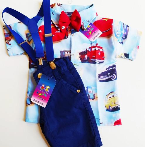 conjunto luxo temático social tema carros azul festa