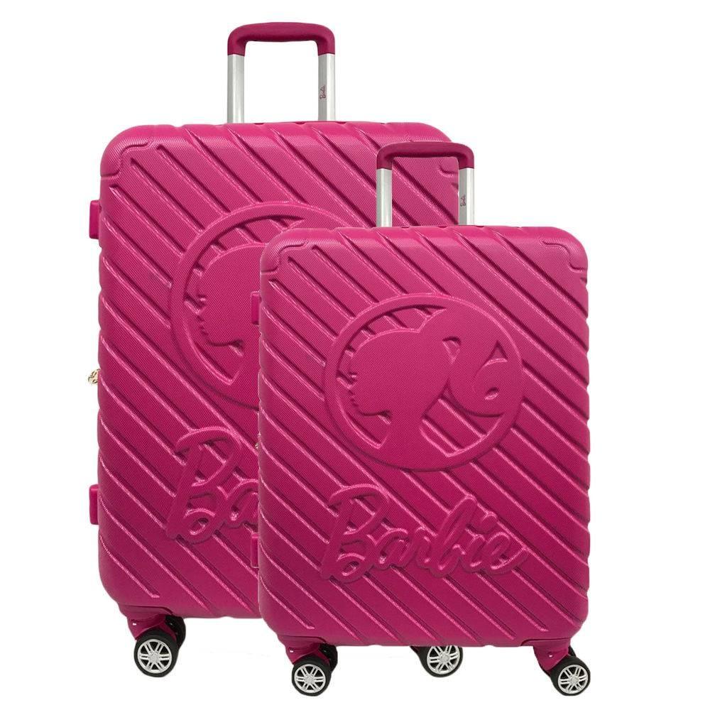 1467df1a4029f conjunto malas viagem barbie rosa rigida giro 360 mf10171bb. Carregando  zoom.
