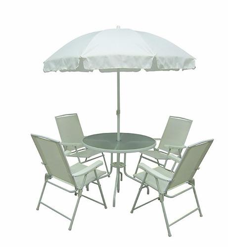 conjunto malibu branco mor jardim sala/ casa cadeiras e mesa