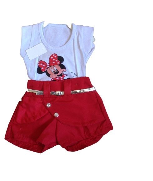 c210157a1 Conjunto Menina Minnie Roupa Bebe Infantil Recem Nascida 016 - R  17 ...