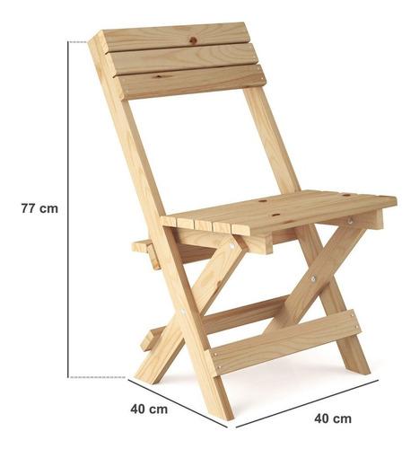 conjunto mesa dobrável 4 cadeiras siena móveis jiwt
