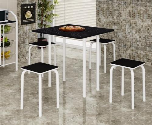 conjunto mesa dobrável com 4 banquetas apenas rio de janeiro