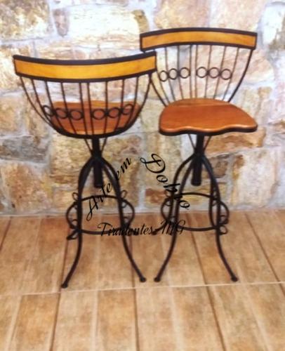 conjunto mesa e cadeira bistro ferro e madeira resistente