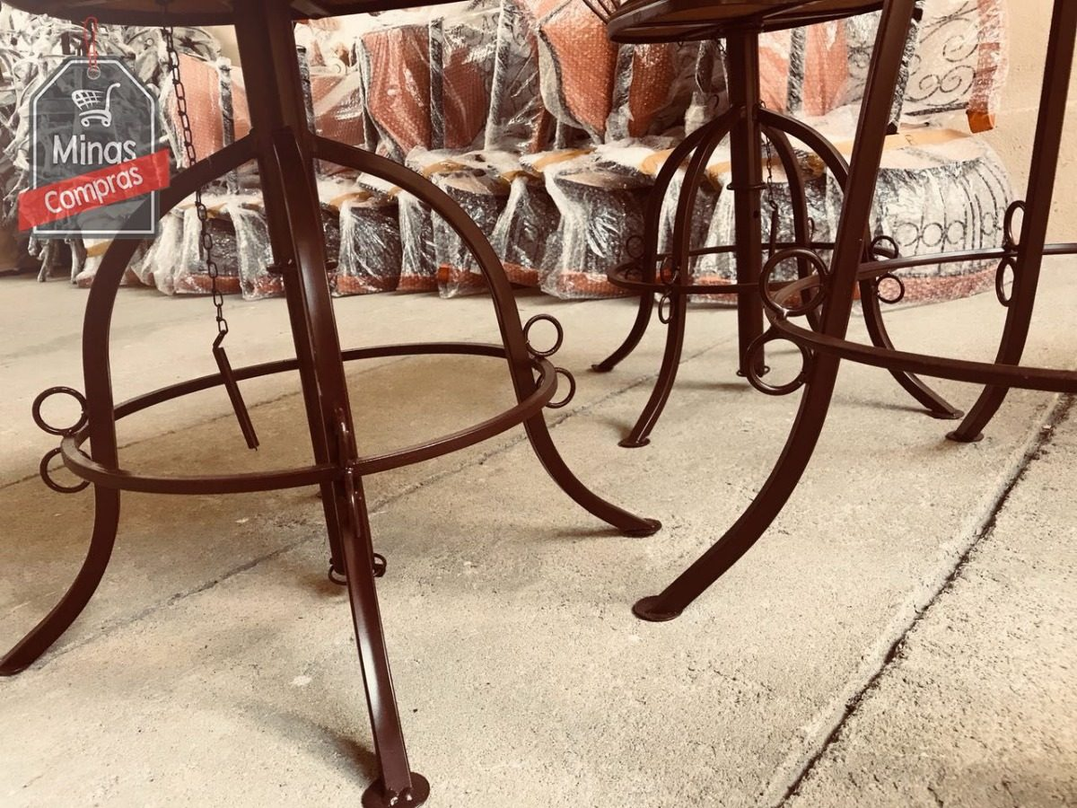 Conjunto Mesa E Cadeiras Cozinha Americana Acabamento Fino R 669
