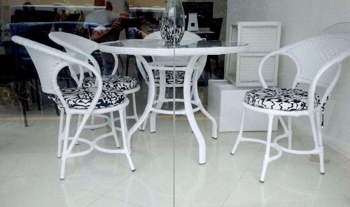 Conjunto mesa e cadeiras fibra sint tica varanda jardim for Conjunto jardin fibra sintetica