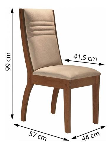 conjunto mesa genova tampo slim vidro plus 4 cadeiras he