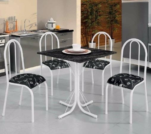 Conjunto mesa jantar cozinha 4 cadeiras londres r 329 - Mesa esquinera cocina ...