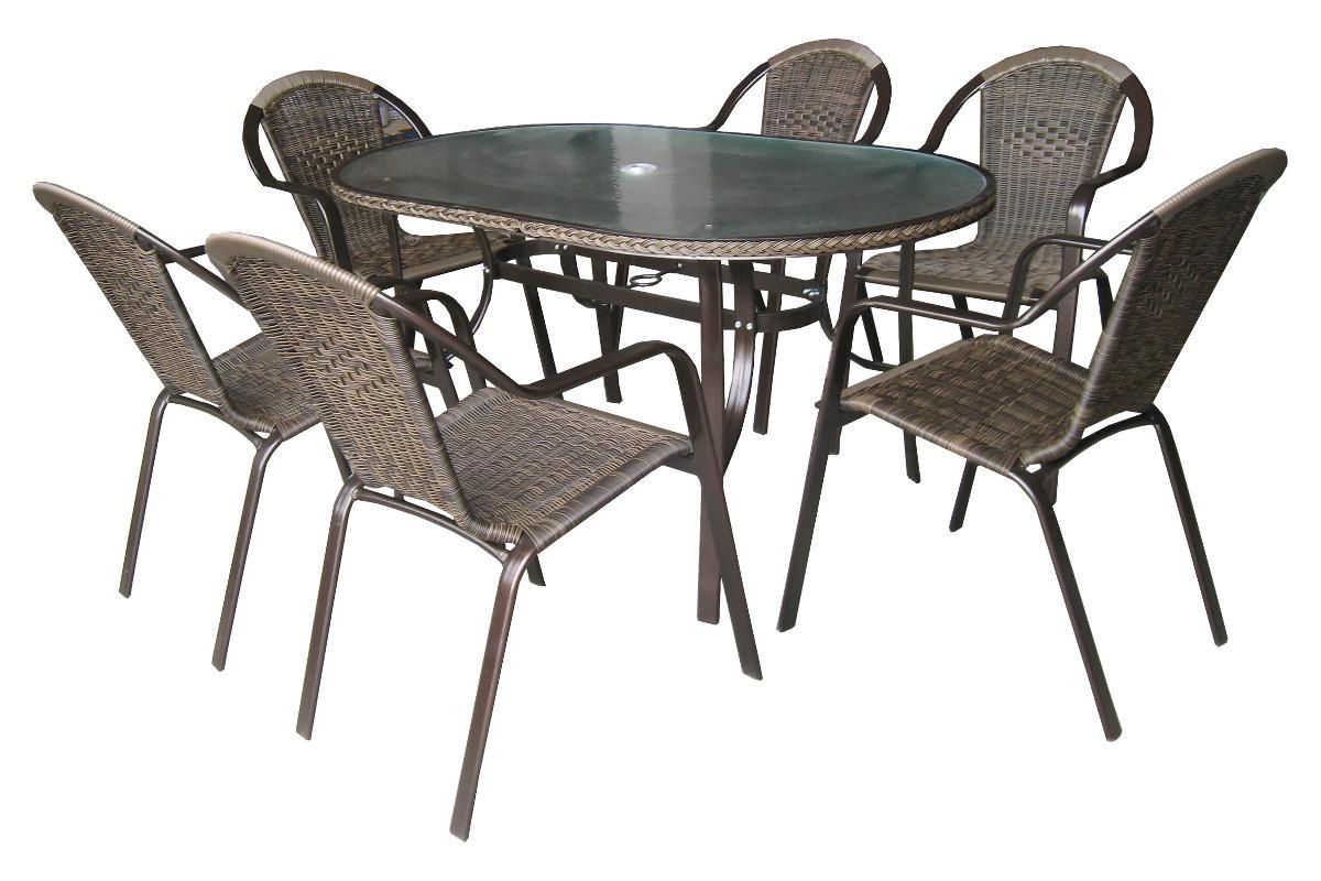 mesa para jardim aluminio : Conjunto Mesa Jardim Com 06 Cadeiras Aluminio Kalahari Mor ...